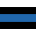 "Police Thin Blue Line Decal (3.8"")"