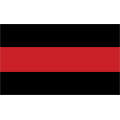 "Firefighter Thin Red Line Decal (3.8"")"