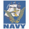 NAVY 'VIEW THROUGH' WINDOW DECAL 12""