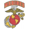 MARINES 'VIEW THROUGH' WINDOW DECAL 12""