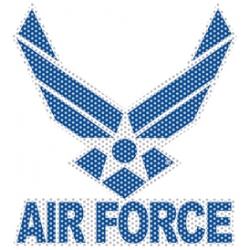 AIR FORCE 'VIEW THROUGH' WINDOW DECAL 12""