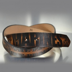 MARINE CORPS LEATHER BELT