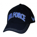 CAP-AIR FORCE 3-D TEXT LOGO ON SIDE DKN