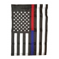 "THIN BLUE & THIN RED LINE GARDEN SIZE FLAG ""12X18"""