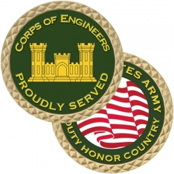 ARMY CORPS OF ENGINEERS CHALLENGE COIN