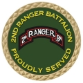ARMY 2ND RANGER BATTALION COIN