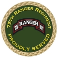 ARMY 75TH RANGER REGIMENT COIN