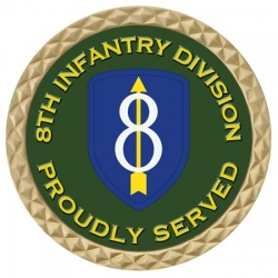 8TH INFANTRY  DIV COIN