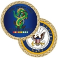 NAVY MOBILE RIVERINE FORCE VIETNAM COIN