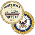NAVY SWIFT BOAT VIETNAM COIN