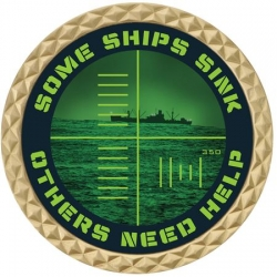 SUB SINKER NAVY COIN