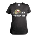 I Love My Vietnam Vet Womens T-Shirt