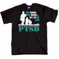 PTSD SOME WOUNDS ARE INVISIBLE T SHIRT