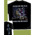 STAND FOR THE FLAG , KNEEL FOR THE FALLEN - T-SHIRT