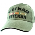 VIETNAM VETERAN HAT - OD GREEN