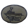 "PATCH-VIETNAM,RIVER RATS (SUBDUED) (3"")"