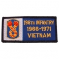 "PATCH-VIET,BDG,ARMY,196TH 1966-1972 (4-1/4"")"