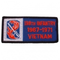 "PATCH-VIET,BDG,ARMY,198TH 1967-1971 (4-1/4"")"