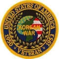 "PATCH-KOREA,VETERAN (3"")"