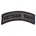 "PATCH-VIETNAM,TAB,1965 (SUBDUED) (3-1/2"")"