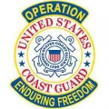Enduring Freedom Coast Guard Patch- with the option to have it added to a hat
