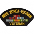 WWII - KOREA - VIETNAM VETERAN  HAT PATCH- WITH THE OPTION TO HAVE IT ADDED TO A HAT