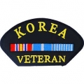 KOREA VETERAN HAT PATCH- WITH OPTION TO ADD TO A HAT