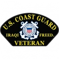 COAST GUARD IRAQI FREEDOM VETERAN HAT PATCH- With Option To Add It To A Hat