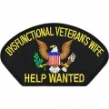 Dysfuntional Veterans Wife Hat Patch- With Option To Add To A Hat