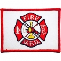 "PATCH-FIRE DEPT,FLAG,VFD (RED/WHITE) (2-1/2""X3-1/2"")"