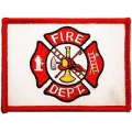 "PATCH-FIRE DEPT,FLAG (RED/WHITE) (2-1/2""X3-1/2"")"