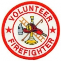 "PATCH-FIRE,VFD,RND (WHT/RED) (3"")"