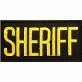 "PATCH-SHERIFF TAB (GLD/BLK) (2""X4"")"
