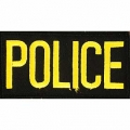 "PATCH-POLICE TAB (GLD/BLK) (2""X4"")"