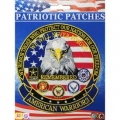 "PATCH-AMERICAN WARRIORS (LRG) (5-1/4"")"