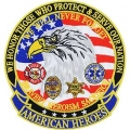 "PATCH-AMERICAN HEROES (LRG) (5-1/4"")"