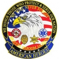 "PATCH-AMERICAN HEROES (XLG) (12-1/2"")"