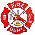 "PATCH-FIRE,DEPT.LOGO (RED/WHT) (10"")"