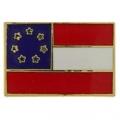 """USA 1ST NATIONAL FLAG PIN ( STARS AND BARS ) (7/8"""")"""
