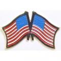 """USA / USA CROSS FLAGS PIN (1-1/8"""")"""