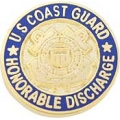 "PIN-USCG, HONORABLE DISCHG (MINI) (5/8"")"