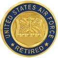 "PIN-USAF LOGO, RETIRED (MINI) (5/8"")"