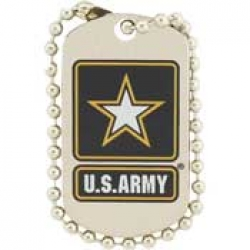 "ARMY LOGO ""DOG TAG"" (1"")  PIN"