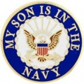 "PIN-USN LOGO, SON (7/8"")"