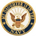 "PIN-USN LOGO, DAUGHTER (7/8"")"