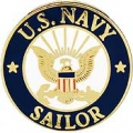 "PIN-USN LOGO, SAILOR (1"")"