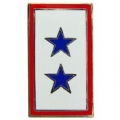 "FAMILY MEMBERS IN SERVICE ( 2 BLUE STARS ) PIN (1"")"