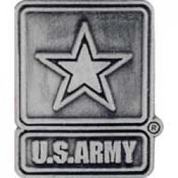 """ARMY LOGO,PEWTER (1"""")   PIN"""