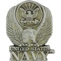 "PIN-USN LOGO, PEWTER (1"")"