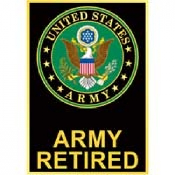 "ARMY SYMBOL RETIRED PIN - (1-1/8"")"